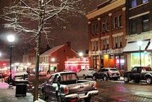 Winter in Athens / Snowcapped hills and cozy coffee shops are just some of the reasons why winter in Athens County truly is wonderful. Use this board for inspiration that will cure all forms of cabin fever!