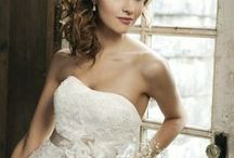 Romantic Wedding Hairstyles - Updo and Loose Curls