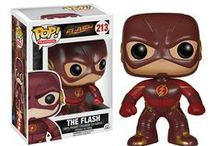 The Flash / Barry Allen was struck by a lightning bolt which gave him super speed. He becomes becomes The Flash to fight crime in Central City.