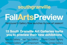South Granville Fall Arts Preview / Saturday, October 13, 2012 from 10am-6pm, Vancouver's Gallery Row launches its new art season! 15 South Granville Art Galleries invite you to preview their new exhibitions. Enjoy receptions, meet artists and find out more about the creative neighbourhood of South Granville! See you there!