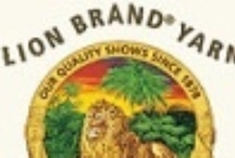 Yarn / Threads by Lion Brand / A nice variety of colors and color combinations / by Bobbie Asche