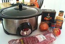 Crock pot recipes / Gotta love the crock pot.  You can cook about anything in them and leave them to cook a delicious meal in hours and you're not slaving over a stove to do it!! / by Bobbie Asche