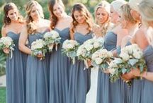 Slate Blue Weddings / Pantone's colors of the year, serenity and rose quartz, are all about calmness. Serenity is similar to one of our favorite colors of the year, slate blue. From bridesmaid dresses, to decorations, to the tiniest details, slate blue weddings provide the perfect sense of calm to your big day!