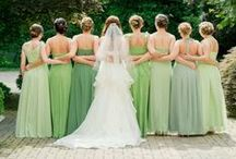 Green Weddings / Green is the color of new life and growth. So what better color to incorporate into the first day of the rest of your life? See why we love green weddings!