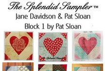 "The Splendid Sampler Quilt Along / The Splendid Sampler Sew along with this one of kind quilt along featuring free quilt blocks released twice a week from the top designers in the quilting industry!   http://www.thesplendidsampler.com  6"" blocks, Sampler, Quilt, Quilting, Patchwork,"