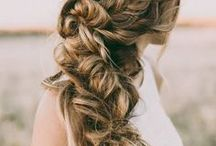 Wedding Hairstyles / Braids, loose buns, and long curls are the best wedding hairstyles for the relaxed and free-spirited bride's wedding day.