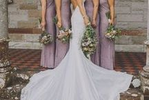 Wedding Party Inspiration / Wedding Party fashion, style, and photography inspiration for natural, relaxed, bohemian bridesmaid and down to earth groomsmen.