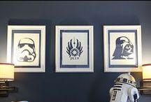 Design: Star Wars Room in Blue and Gray / Love Star Wars?  My client's son did too!  I just love the adorable items I found and I hope you enjoy browsing the collection of ideas.