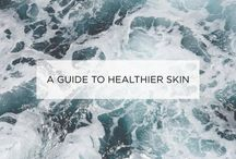 How to get healthy skin / Thoughts on how to get healthier skin - from products to nutrition.