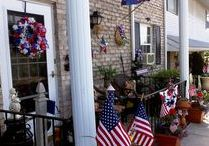 Patriotic Decor and Crafts / I love to decorate for all the Holidays and Seasons and love to celebrate the Patriotic Holidays in the Summer such as Memorial Dy, July 4th and Labor Day!!