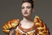 People wearing food / Real people, wearing real food.