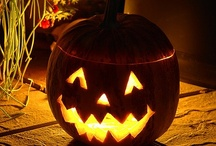 """Jack / ive little pumpkins sitting on a gate. The first one said, """"Oh my, it's getting late!"""" The second one said, """"There's witches in the air!"""" The third one said, """"Well I don't care!"""" The fourth one said, """"Lets run run run!"""" The fifth one said, """"It's only Halloween fun!"""" Then Whoooooo... went the wind, and OUT went the lights! And the five little pumpkins rolled out of sight. / by Ashley Mayer"""