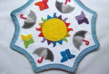 Grace's Favours PDF Sewing Patterns / Sewing patterns for personalised felt gifts & penny rugs (candle mats)