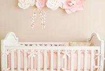 Floral Pink Baby Girls Nursery / Room / Sweet pink floral nursery inspiration for baby girls (or girls' room) from nursery decor, wall art, and baby girl gift ideas. #nurseryinspo #babygirlnursery #nurserygirl #nurseryforgirls