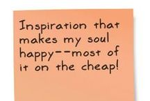 Craft Ideas / Inspiration that makes my soul happy--most of it on the cheap!  / by Tanya Naser