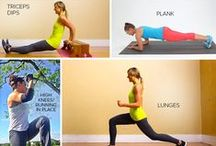 At Home Workouts / Workouts that all can be done at home!  Great way to get back into shape after having a baby