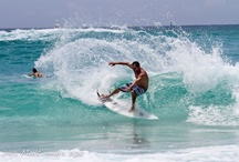 Toes to the Nose / We do get some surf in the Florida panhandle. Surfing is a passion my husband and daughter share.