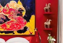 Red Rooms / Red: Fire, energy, passion, power.  Red stops you in your tracks and catches your attention.  Red also increases the appetite, making it a natural choice for kitchens and dining areas.