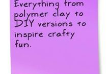 Clay fun! / Everything from polymer clay to DIY versions to inspire crafty fun.