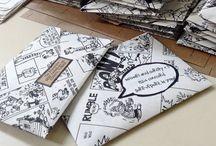 Letters, envelopes, boxes, crafts