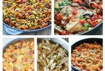 One Pot Meals / One Pot Meals - nothing is better or easier than only using one pot.  Quick meals and a lot less cleanup!  My kind of cooking.  :)