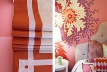 Pink and Orange / trying to see if I can have a pink and orange room in my house, or if it would be Just Too Much.