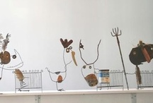 Wood & Wire, Lost & Found / Things made from wood, wire . . . / by Sharon Goodwin