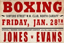 Vintage Boxing Posters / I started noticing these during season one of The Wire. The gym where Avon Barksdale used to train had an entire wall full of them - just fantastic.