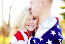 americana wedding / Red, white and blue - Navy, Army and Air Force too.  We love the Americana wedding featuring the flag, colors and traditions we love.  If you would like a custom design, just let us know.  We'll be glad to help.