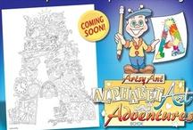 """Artsy Ant  / """"Artsy Ant Alphabet Art Adventures"""" created by Scott Howard"""