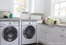 Laundry Room Design / Ideas for making doing laundry beautiful through organization.