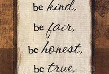 Fair Honest Kind True Book / by Merrie Haskell