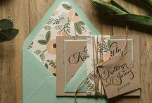 Kailey & Caleb / Kailey & Caleb Garden Wedding invitations Mint