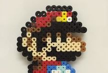 Perler Beads / Super Mario Bros. made with #perlerbeads #meltybeads  a collection made as magnets for my fridge.