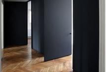 wood black white