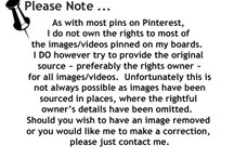 Pinterest/Please Note:  / by Sharla Shults