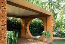 Garden Pergolas and Art Arches / Pergolas create rooms. They are often the boundaries for semi-shaded outdoor living rooms. Miscellaneous art arches are also included in this category. / by Garden Expressionist