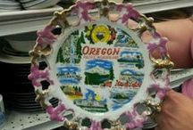 The United Plates of America / Commemorative plates from across the US found in thrift stores. / by Jack