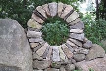 Garden Moon Gates / Moon gates are garden arches that serve as gateways to the garden. They are always round. Sometimes they are simulated with mirrors. Their roots are found in Japanese gardens and represent moon rise - birth/rebirth.  / by Garden Expressionist
