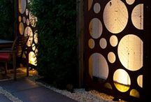 Garden Panels / Garden panels are a modern take on a traditional trellis with the emphasis on form over function. They are often made of corten steel but I intend to try the wedi-bond mosaic backing. / by Garden Expressionist