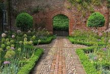 Garden Gateway Arches / Garden arches are often used to develop gateways into garden rooms or vistas through which we transition from one place to another or where an accent is emphasized by the view shed. / by Ann Ayers