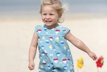 Frugi SS16 Collection, organic clothes for babies and toddlers 0-4 years / Frugi SS16 Spring collection. We've gone back to our roots in more ways than one with the latest Frugi collection. From daffodil fields blooming around the Helford in spring, fish and chips on the quayside in Mousehole, to those lazy summer beach days in St Ives... inspiration was all around us for this collection!