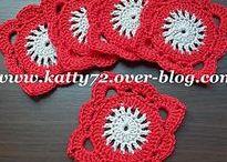 Crochet Squares / Carrés au crochet / Des carrés au crochet avec leurs patrons, crochet squares patterns