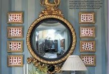 Decor: Mirror Mirror on the Wall / mirrors of every shapes, size, color, and style