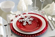 Let's Celebrate: Tablescapes & Celebration Ideas / china, table linens, ideas for center pieces, dishes, etc.