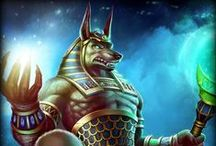 Anubis | God of the Dead / Jackal-headed Anubis holds the ultimate judgment over the dead, measuring every heart against the weight of Truth.  / by SMITE: The Game