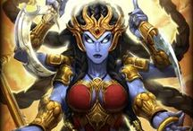 Kali │Goddess of Destruction / Rarely has Kali been seen since, kept in the shadows of Devi's mind, but when the tides of battle shift and evil looms large, there is no solution but unrestrained destruction of evil, and Kali once again, walks the Earth. / by SMITE: The Game