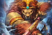 Anhur | Slayer of Enemies / Anhur, the lion-headed Egyptian God of war, slays his enemies with spear and guile. Weapons equally as sharp! / by SMITE: The Game