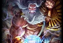 Zeus │God of the Sky / King of Gods, Zeus strives for fairness and justice, but will not hesitate to call down the thunder when there's smiting to be done!