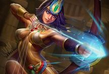 Neith │Weaver of Fate / When time began, there was only endless black waters. Yet, from water comes all life, and from this primordial force was born the first of Goddesses, Neith. / by SMITE: The Game